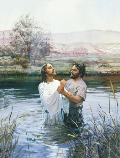"""'To fulfill the law,' said Jesus, when the baptist questioned why."""